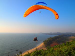 Paragliding in Arambol in goa - fun things to do in Goa