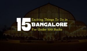 Exciting Things To Do in Bangalore For Under 500 Bucks