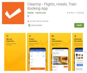 ClearTrip - Flight and Hotel Booking Apps