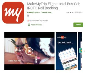 MakeMyTrip - Flight and Hotel Booking Apps