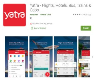 Yatra - Best Travel Booking Apps